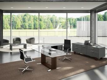 Design Schreibtisch Arche Glas
