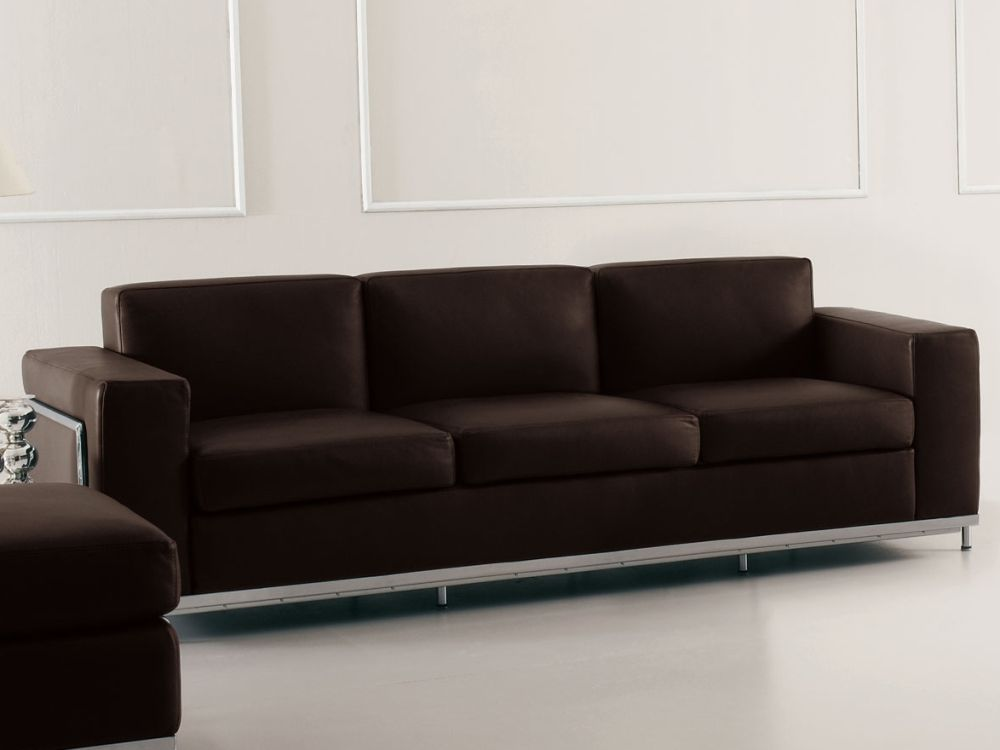 sofa leder designer 3 sitzer carprola for. Black Bedroom Furniture Sets. Home Design Ideas