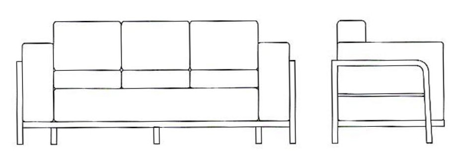 Leder Couch Designer Lounge Office Couch 2er Verona Leather Jpg ...