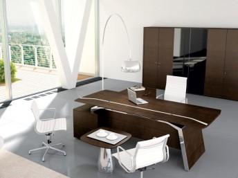 Schreibtisch mit Sideboard Metar