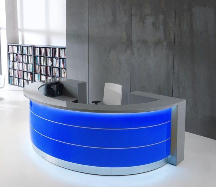Design Empfangstheke Tressa, rund   Büromöbel