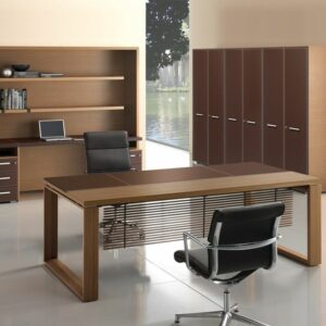 Luxus Schreibtisch Leder