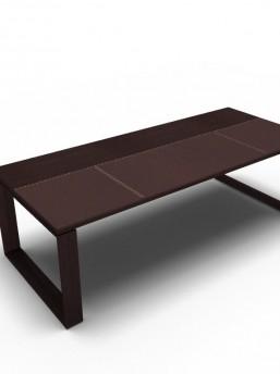 Schreibtisch Arche Leder-Holz_2