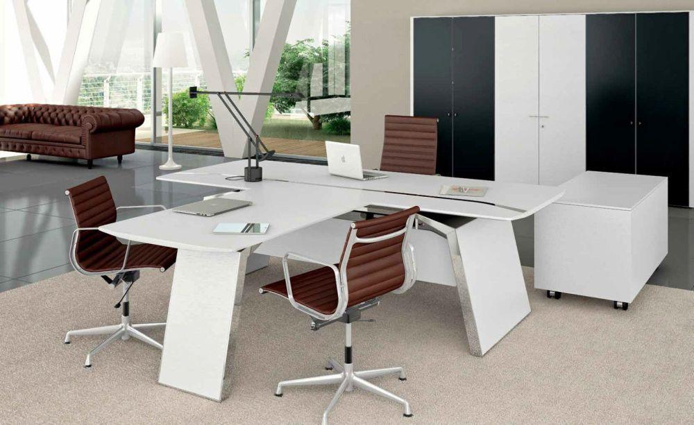 Schreibtisch Metar mit Besprechungsplatte | Klassiker Direkt ...