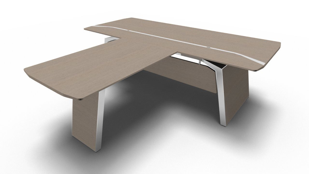 schreibtisch metar mit besprechungsplatte b rom bel. Black Bedroom Furniture Sets. Home Design Ideas