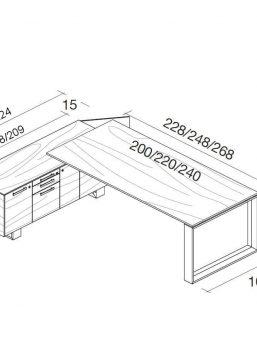 Schreibtisch-mit-Sideboard-Arche-Abmessungen