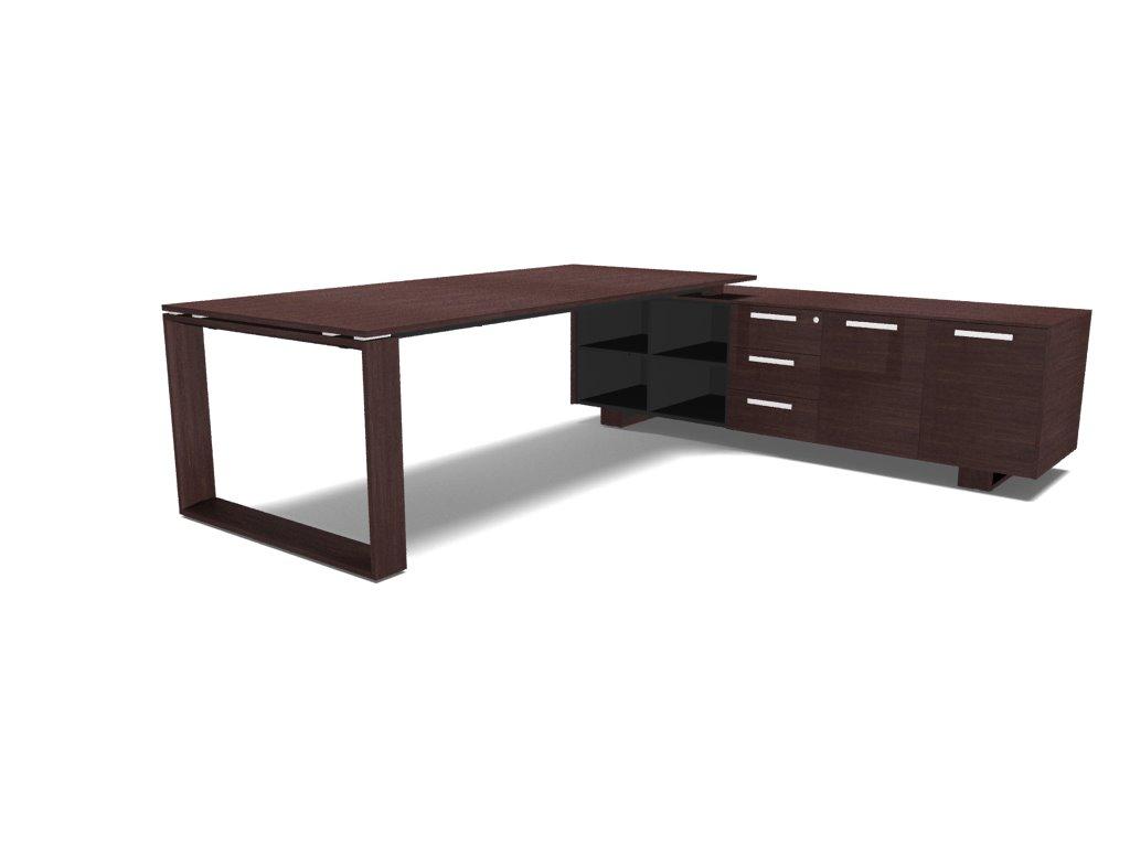 schreibtisch mit sideboard arche b rom bel. Black Bedroom Furniture Sets. Home Design Ideas