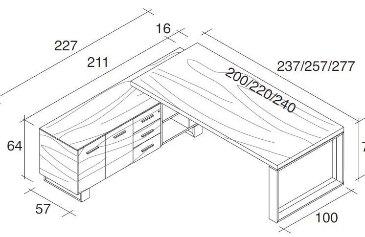 Schreibtisch mit Sideboard Arche_6