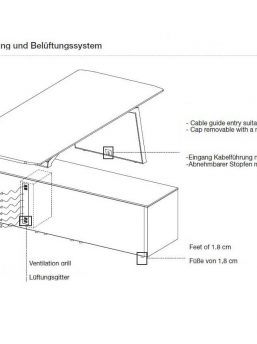 Schreibtisch-mit-Sideboard-Metar-Belueftungssystem