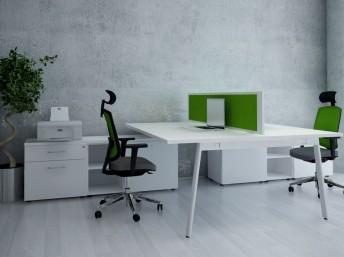 2 Personen Schreibtisch mit Sideboard YAN_M