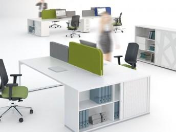 Schreibtisch für 2 Personen YAN_Z mit Schrank