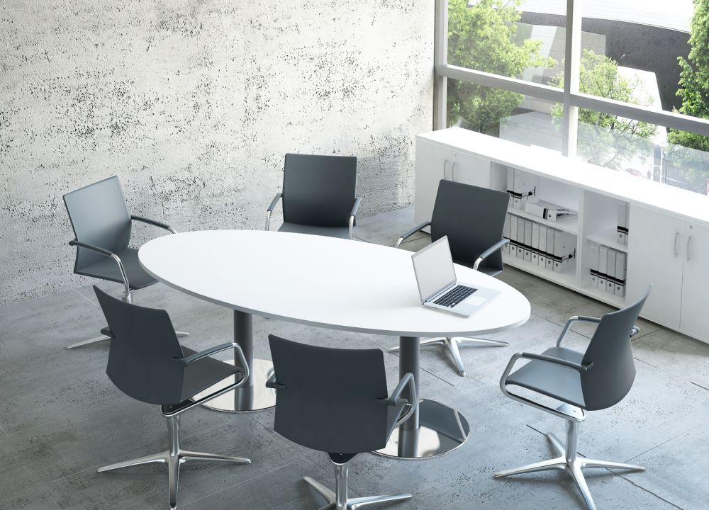 Konferenztisch mit Säulengestell klein | Klassiker Direkt ...