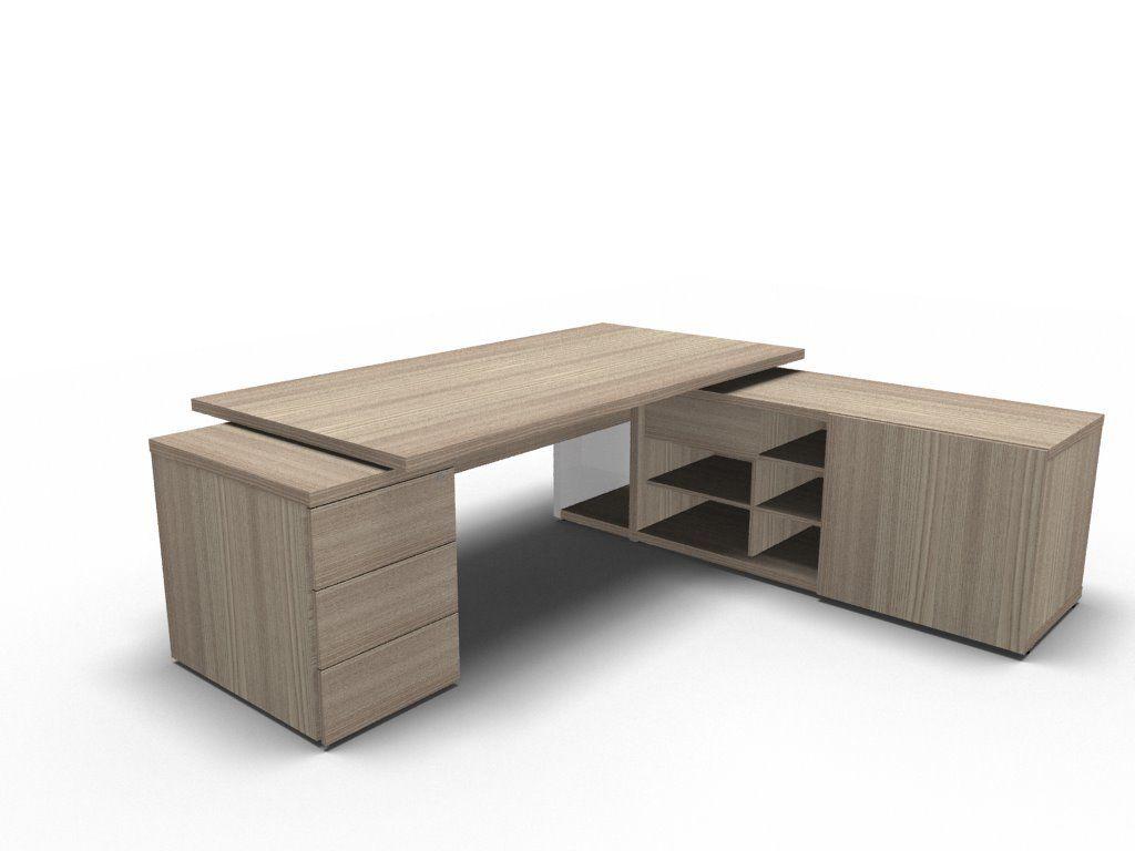 schreibtisch mit sideboard und unterbaucontainer b rom bel. Black Bedroom Furniture Sets. Home Design Ideas