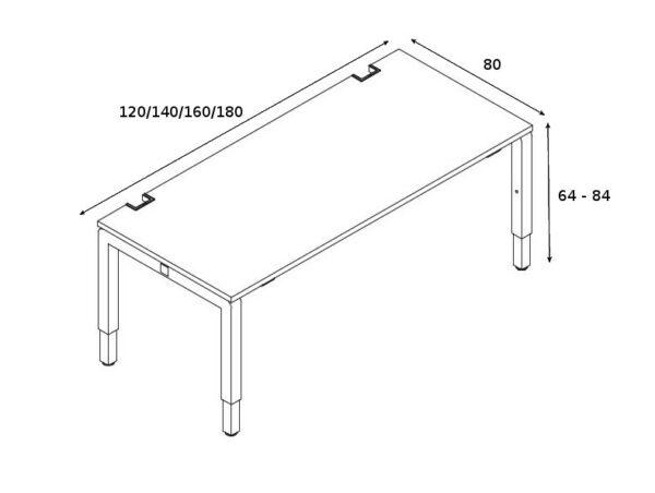 Höhenverstellbarer Schreibtisch Yan_C_4