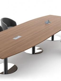 Großer Konferenztisch mit Säulengestell