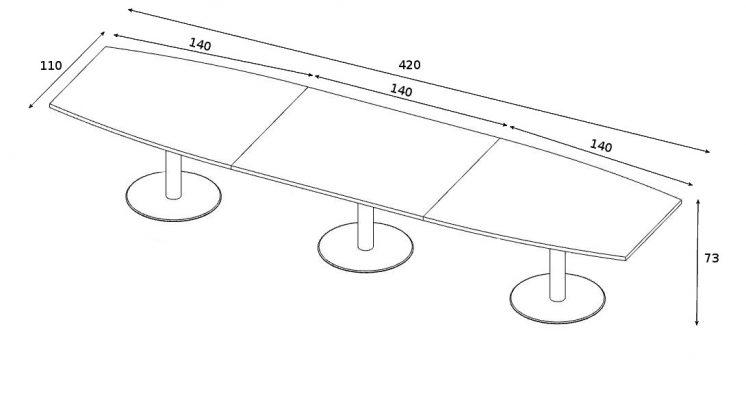 Konferenztisch mit Säulengestell_3