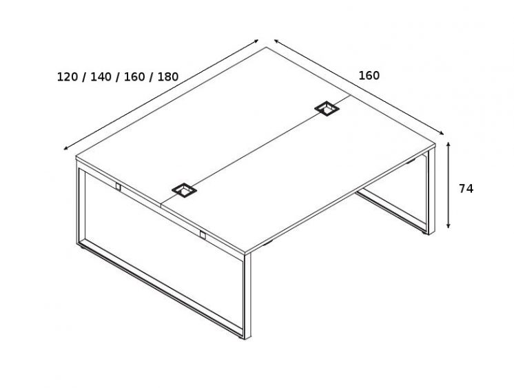 Schreibtisch für 2 Personen YAN_Z_5