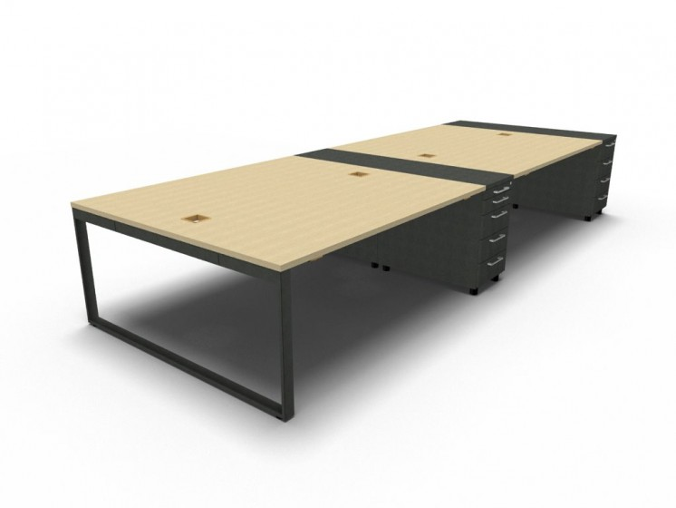 Schreibtisch für 4 Personen Yan_Z_4