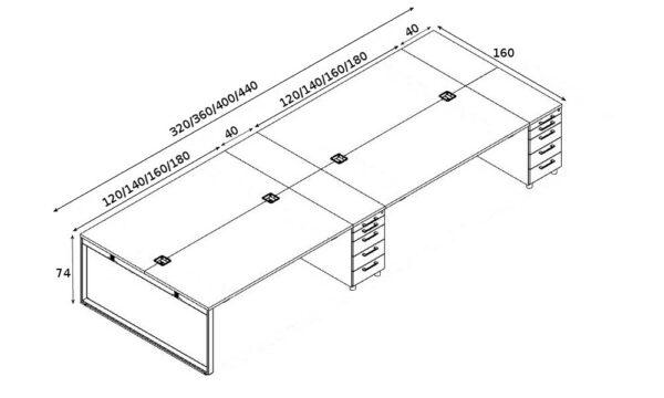 Schreibtisch für 4 Personen Yan_Z_5