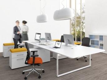 Schreibtisch für 2 Personen mit Sideboard YAN_Z
