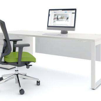 Schreibtisch mit Anbaucontainer