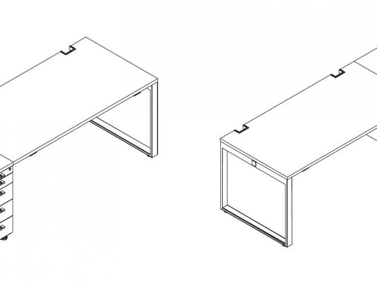 Schreibtisch mit Container YAN_Z_7