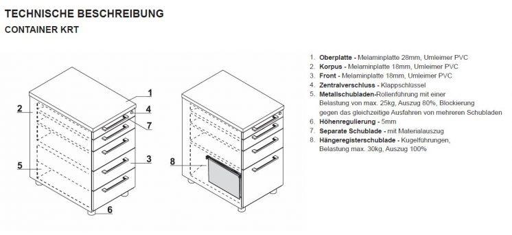 Schreibtisch mit Container YAN_Z_9