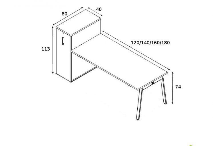 Schreibtisch mit Container Yan_m_5