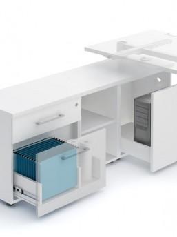 Schreibtisch mit Sideboard YAN