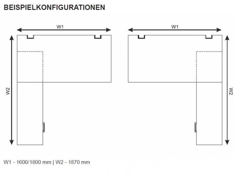 Schreibtisch mit Sideboard YAN_6