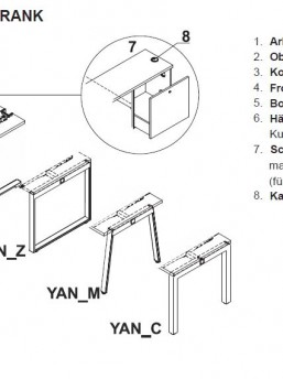 Schreibtisch mit Sideboard YAN_7