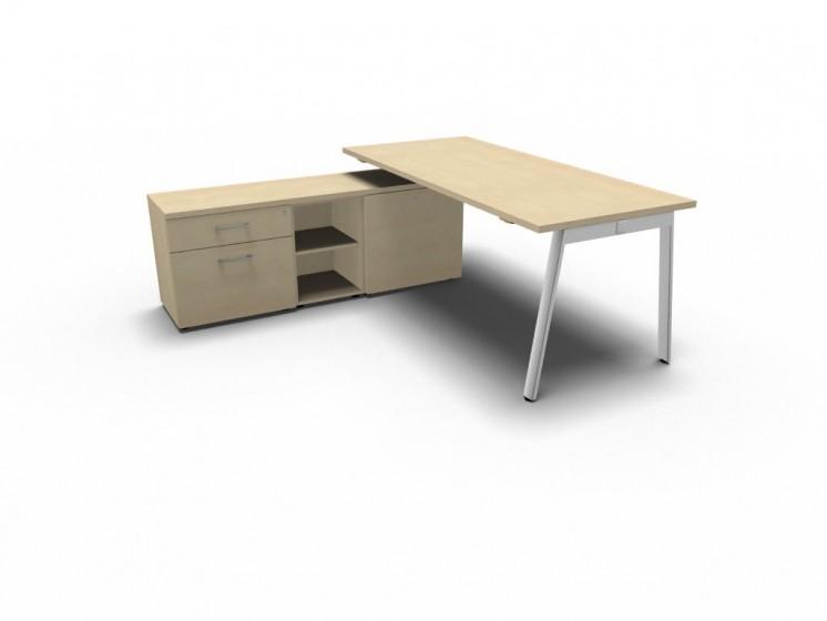 Schreibtisch mit Sideboard YAN_M_3