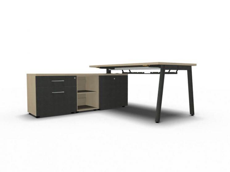 schreibtisch mit sideboard yan m b rom bel. Black Bedroom Furniture Sets. Home Design Ideas