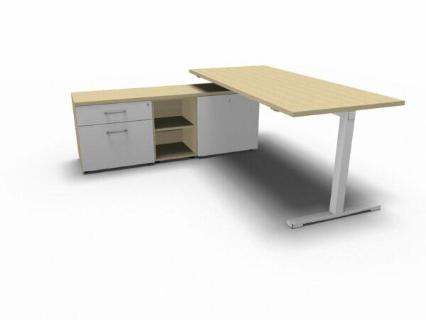 Schreibtisch mit Sideboard YAN_T_2