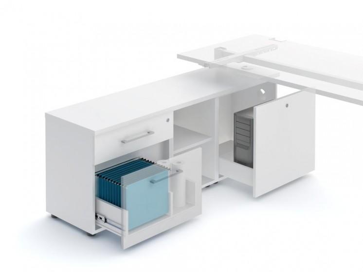 Schreibtisch mit Sideboard YAN_T_4