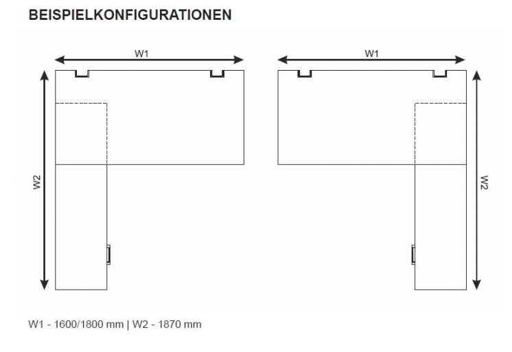 Schreibtisch mit Sideboard YAN_T_6