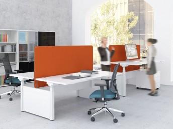 Schreibtisch für 2 Personen elektrisch höhenverstellbar DRIVE