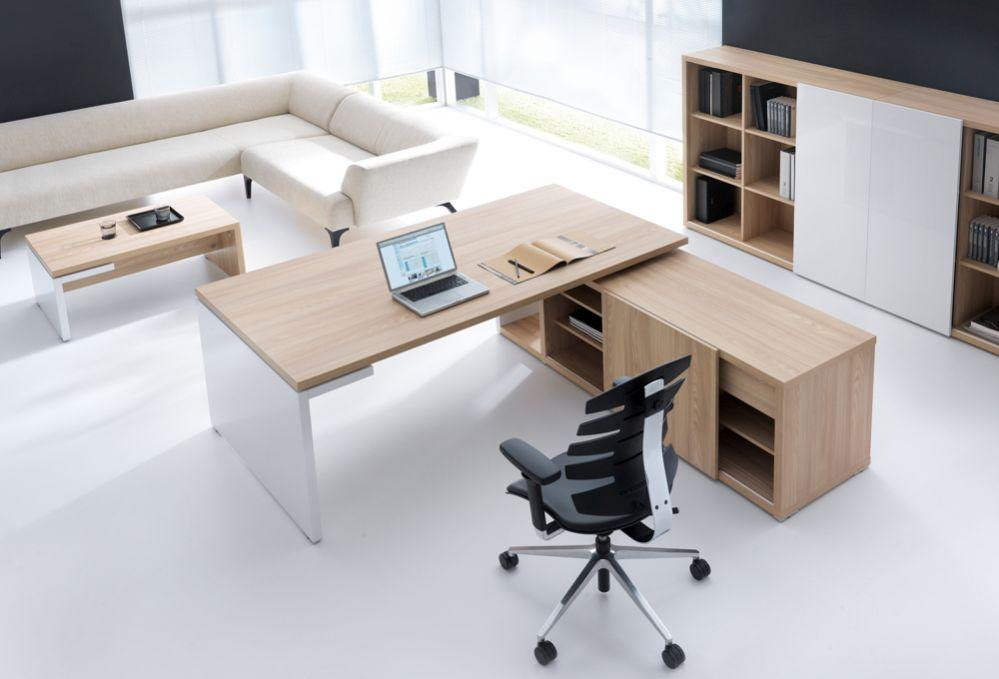 Schreibtisch mit Sideboard FARO, Managertisch | Büromöbel
