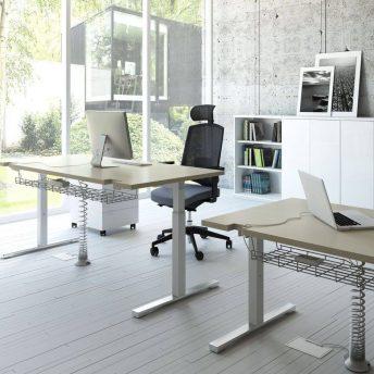 Schreibtisch manuell höhenverstellbar YAN