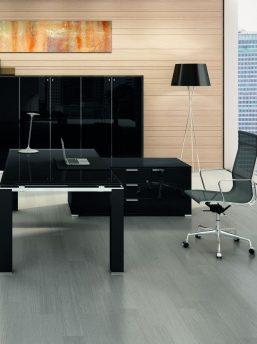 Schreibtisch mit Glasplatte JET EVO