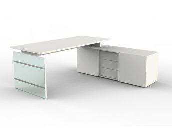 Schreibtisch mit Sideboard Siena