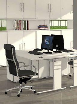 Schreibtisch-Neapel-C-Fuss-Gestell