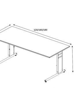 Schreibtisch-Neapel-C-Fuss-Gestell-Abmessungen