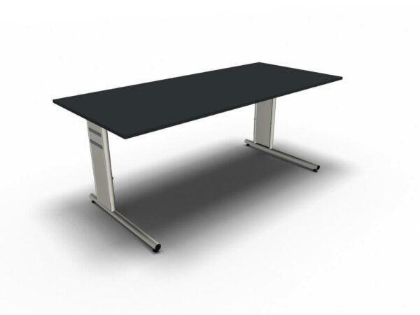 Schreibtisch-Neapel-anthrazit-C-Fuss-Gestell