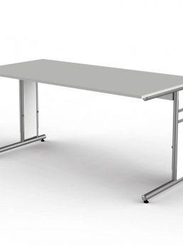 Schreibtisch-Neapel-lichtgrau-C-Fuss-Gestell