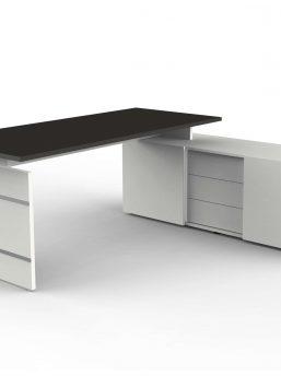 Schreibtisch-mit-Sideboard-Anthrazit