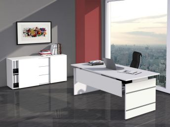 Schreibtisch Neapel mit Wangengestell