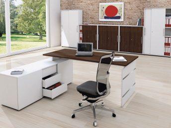 Schreibtisch mit Sideboard Neapel
