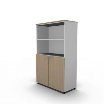 Büroregal mit Türen - H.160