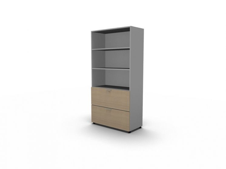 Büroregal mit Schubladen
